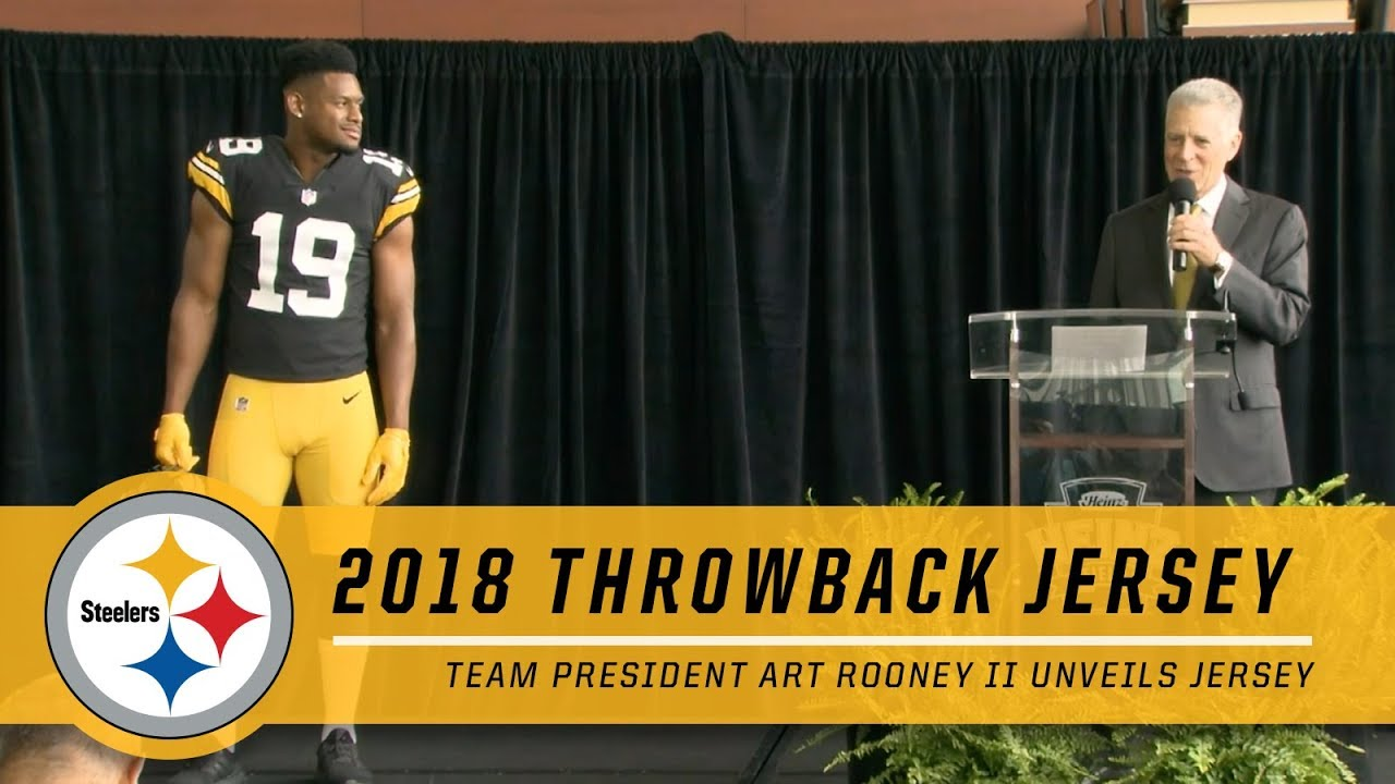 1feb69f25 JuJu Smith-Schuster   Steelers President Art Rooney II Unveil New ...
