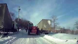 Чалтырь в снежной блокаде (январь 2014г.)