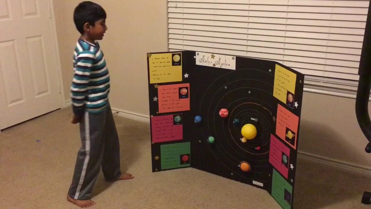 Solar System Project Tri Fold Youtube