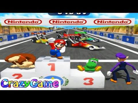 Mario Party 4 - All Free for All Minigames Gameplay