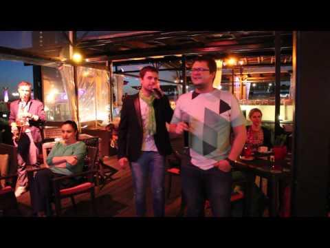 Mr karaoke @ Terrace Riga   Viktor   Рюмка водки на столе