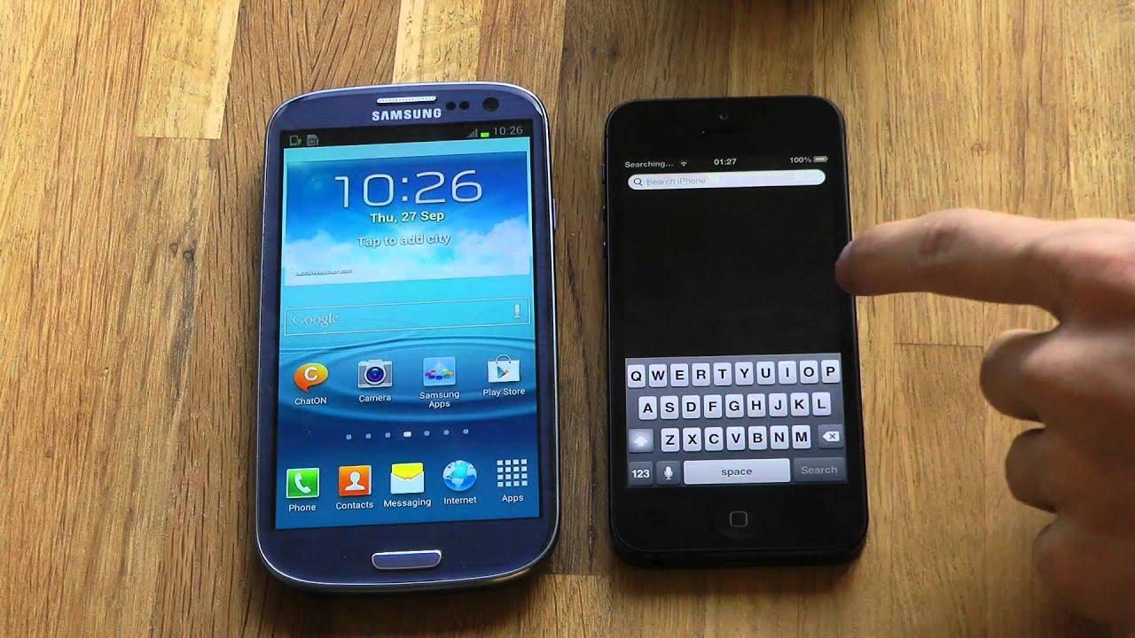 iphone se vs sansung s3