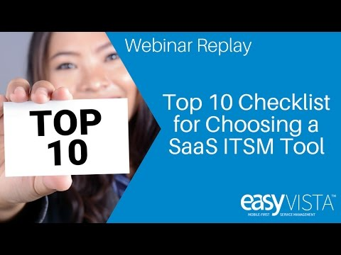 Top 10 Things to Consider when Selecting an ITSM SaaS Provider