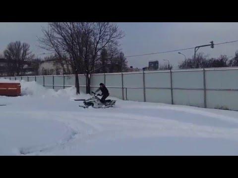 Снегоход ICE DEER ID 170 по 'пухляку' 30 см. прёт уверенно!!!