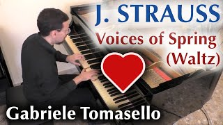 J. STRAUSS - Voices of Spring Waltz    春の声  - Gabriele Tomasello, piano.