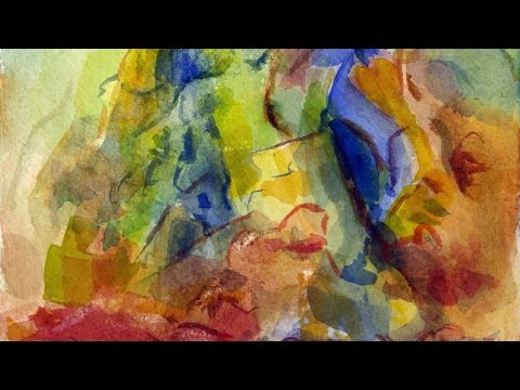 Abstract Watercolor Landscape 2 / Guide to It's Surface Form