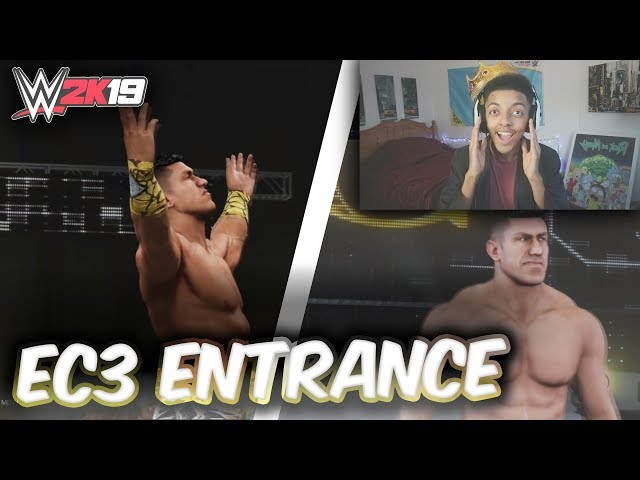 WWE 2K19 NEW EC3 ENTRANCE REACTION! (WWE 2K19 TITANS PACK DLC!)