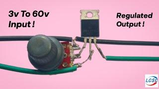 Irfz44n Voltage Regulater | DC voltage regulator circuit