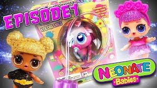 LOL Surprise Dolls NeoNate Babies Nursery Featuring Queen Bee & Sugar Queen! Distroller World S1E1