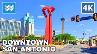Walking tour of Downtown San Antonio, Texas USA 2020  🎧【4K】