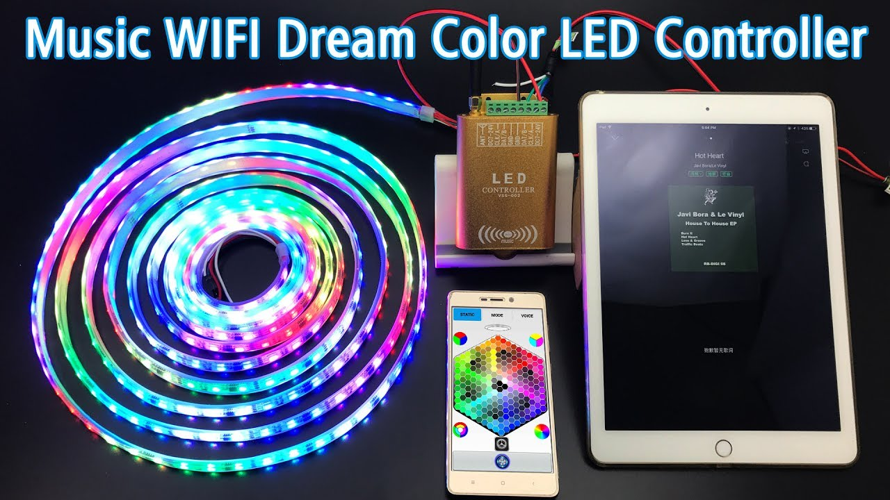 Music wifi dream color led controller control ws2811 digital music wifi dream color led controller control ws2811 digital programmable led strip lights aloadofball
