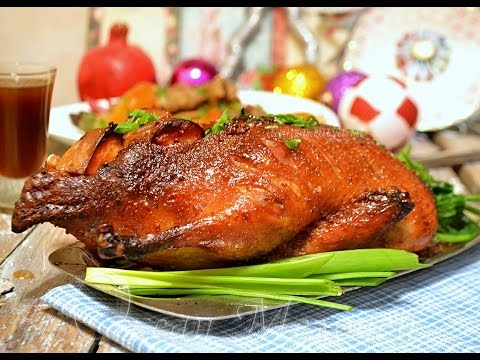 Запеченная утка в духовке с рисом и яблоками. Простой и вкусный рецепт