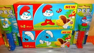 Smurfs Smurfette & Papa Smurf Chocolate Biscuits Cookie and Toy Unboxing スマーフ