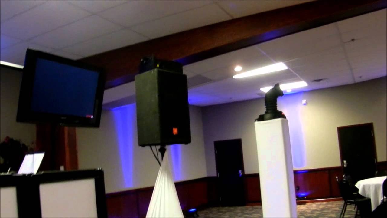 My Dj setup 2.0 gear I use for a wedding, vertical truss package