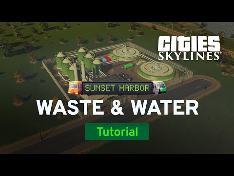 Waste and Water Improvements | Sunset Harbor Tutorial Part 3 | Cities: Skylines
