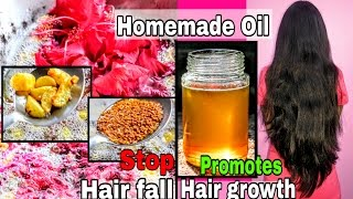 Homemade oil for Hair growth | Hair fall | long black & thick Hair