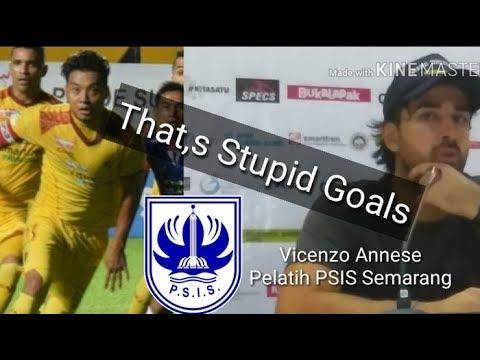Marah Pelatih PSIS Sebut Gol Hamka Stupid Goals (Sriwijaya FC vs PSIS 4-0)