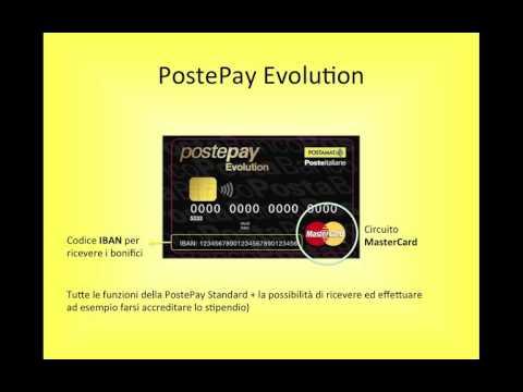 POSTEPAY tutte le carte: Standard, Evolution, carta dello studente