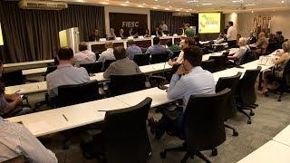 Reunião discute prazos e andamento das obras do contorno viário da Grande Florianópolis
