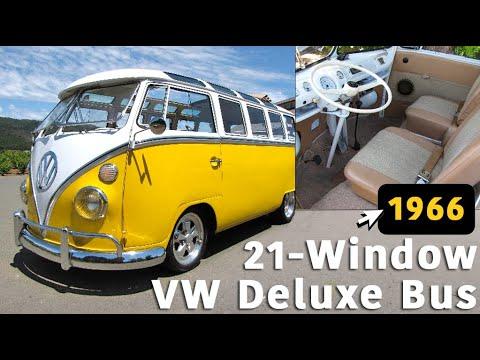 Sexy 1966 21-Window Deluxe Splitty Bus - YouTube