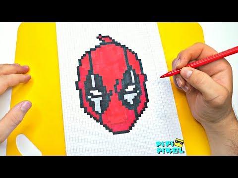 Как нарисовать ДЭДПУЛ 2 ! РИСУНКИ ПО КЛЕТОЧКАМ ! PIXEL ART How To Draw DEADPOOL  2
