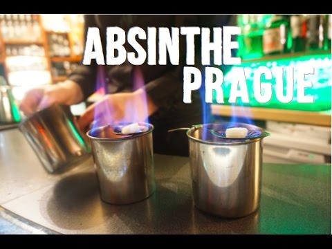 Drinking Absinthe in Prague, Czech Republic   Absintherie Happy Hour
