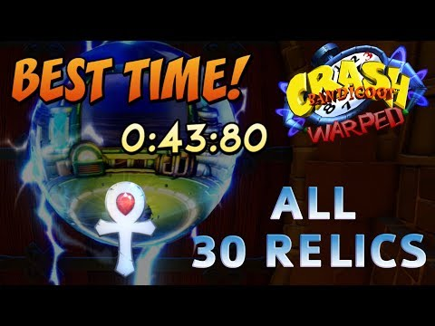 Crash Bandicoot 3: Warped - All Gold / Platinum Relics Time Trials (Speedrun Walkthrough)