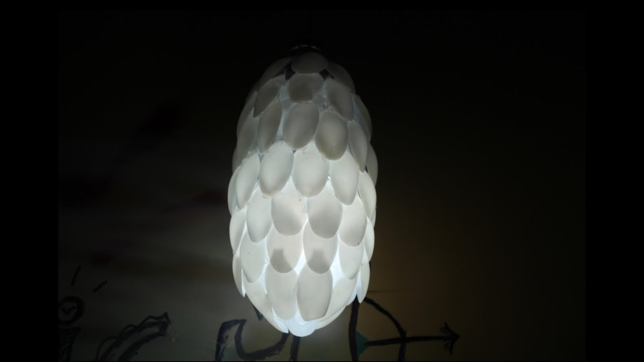 DIY How To Make Spoon Lamp With Plastic Bottle   Unique Room Decor