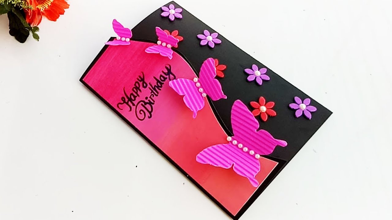 Handmade Butterfly Birthday Card Complete Tutorial