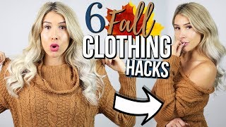 6 Fall Clothing Hacks EVERY Girl Must Know!