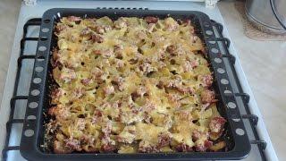 Запечёный картофель с индейкой. Готовим в духовке.