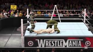 Chris Morrison VS. Pepe VS. Juggernaut Walker- WWE 2K16 - PS4