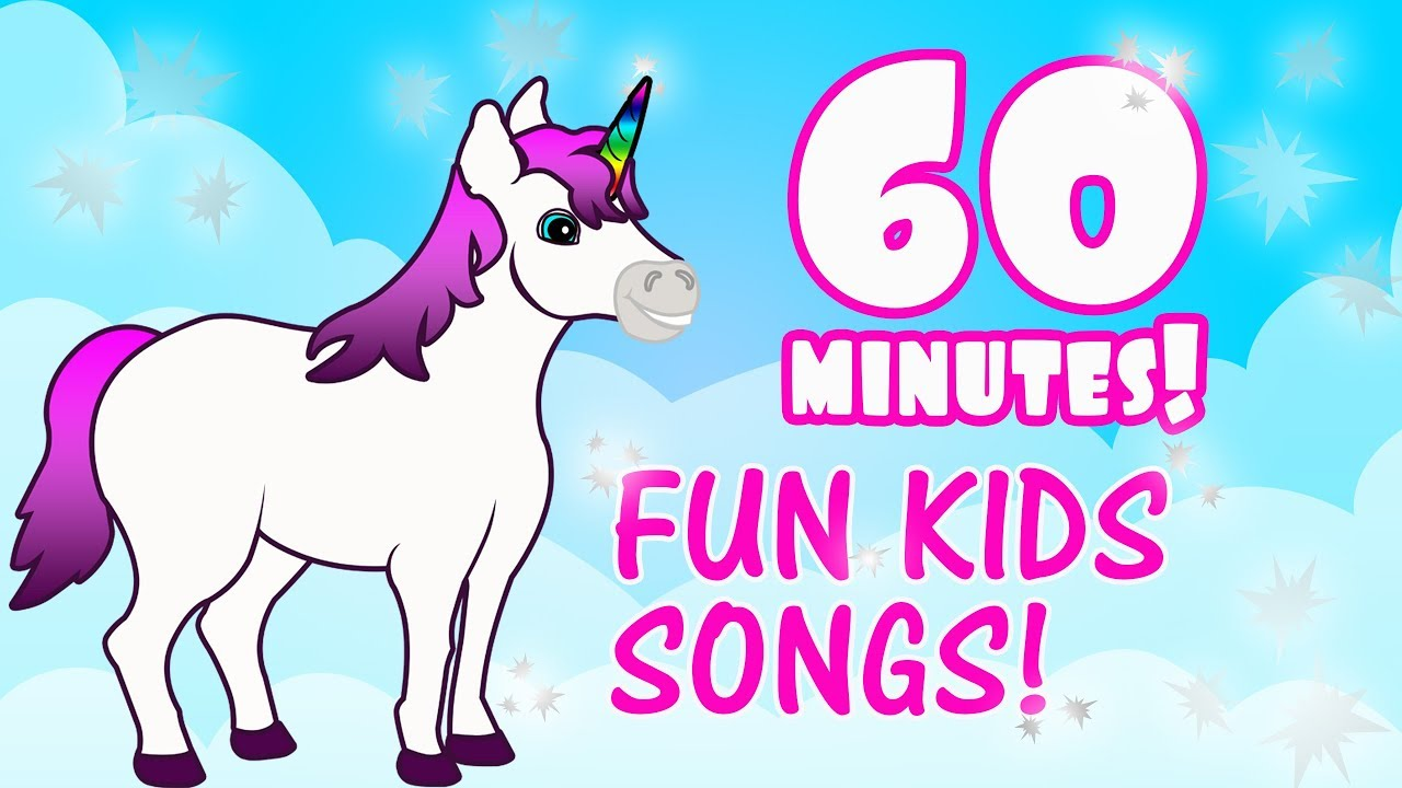 1 Hour Of Kids Music Children S Fun Songs On Youtube Kids Educational Songs Preschool Youtube