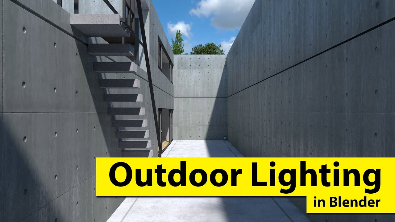 How to do Outdoor Lighting in Blender (correctly)