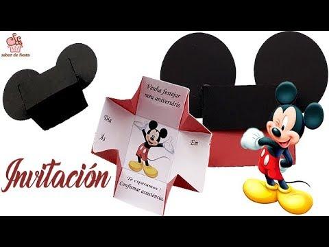 Invitación De Mickey En Caja Sabor De Fiesta