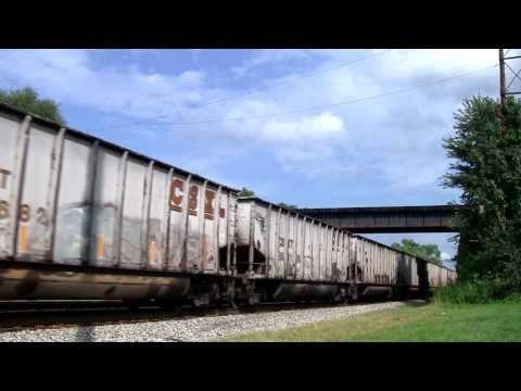 CSX Coal Train Kenova, WV [HD]