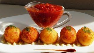 Картофельные шарики во фритюре. potato balls.