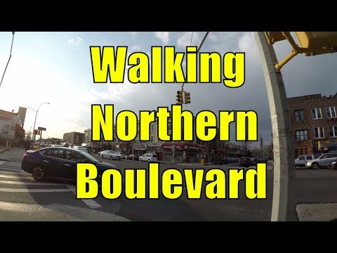 ⁴ᴷ Walking Tour of Queens, NYC - Northern Boulevard from Corona/East Elmhurst to Woodside