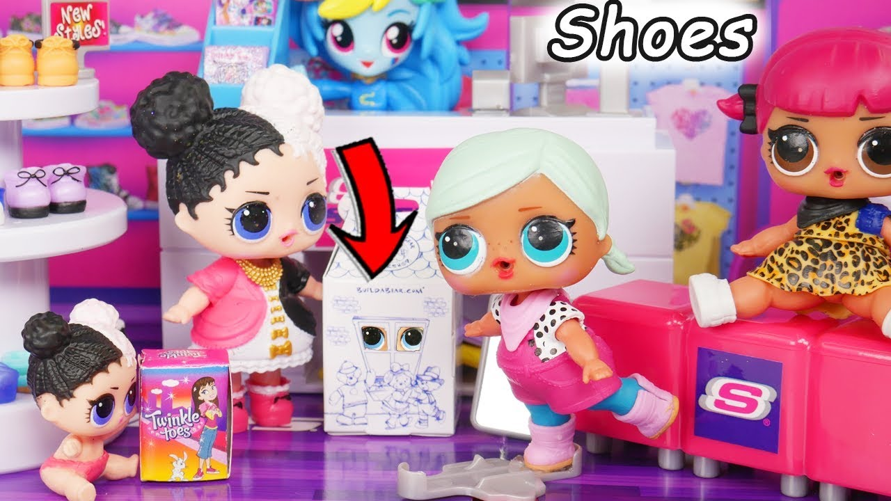 Lol Surprise Dolls Lil Sisters Visit Justice Store Youtube