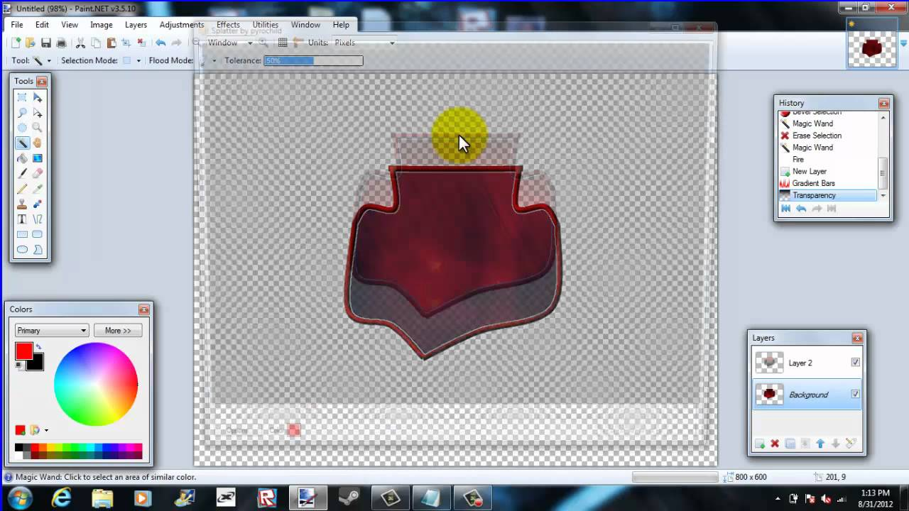 Roblox How to make a group logo with paint NET - YouTube
