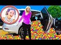 Ball Pit PRANK in the BRATAYLEY Car on the set of Chicken Girls! (Pranking the Leblanc Family)
