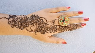 Very Easy and Simple Henna Design for Upper Hands