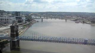Cincinnati Ohio Downtown via Helicopter landing in Newport, Ky heliport