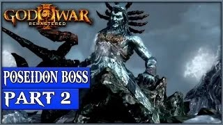 God Of War 3 Remastered Gameplay Walkthrough Part 2 Poseidon Boss - 1080p 60fps - No Commentary