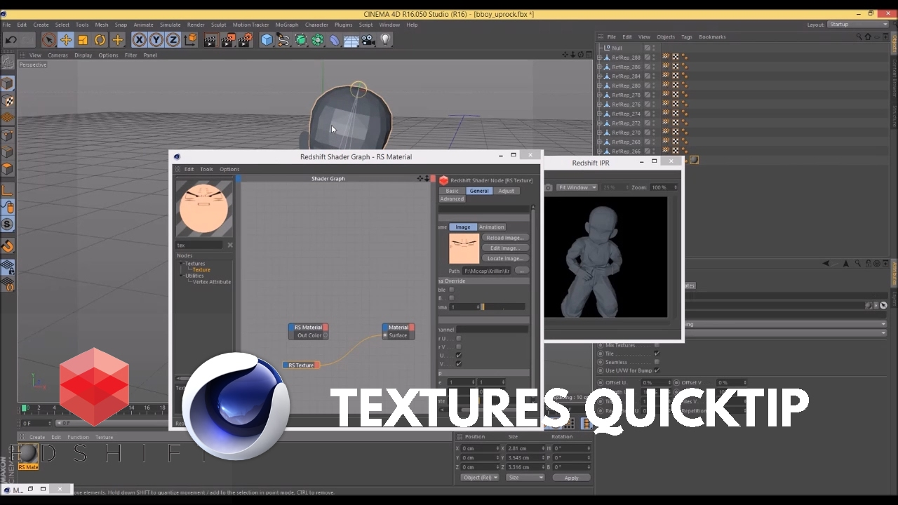 Redshift for C4D Tutorial Quicktip : How to use Textures Files