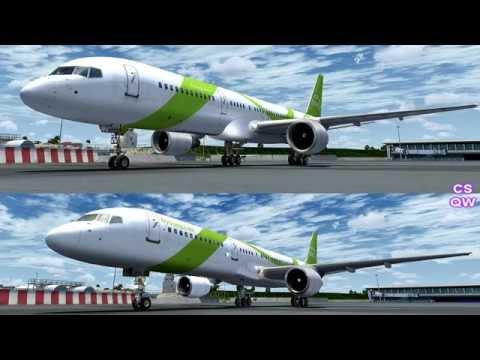FSX Captain Sim 757 vs Quality Wings 757 - The Movie FSX