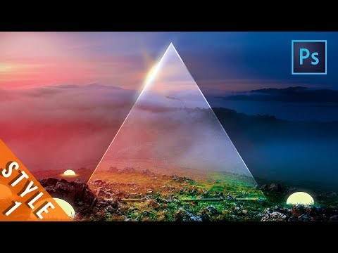 [ Photoshop Manipulation ] How To Make A Glass Triangle In Photoshop