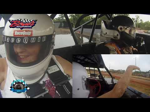 2 Seater Ride with Riley Hickman at Boyds Speedway on 7-24-17 - Dirt Track In Car Camera