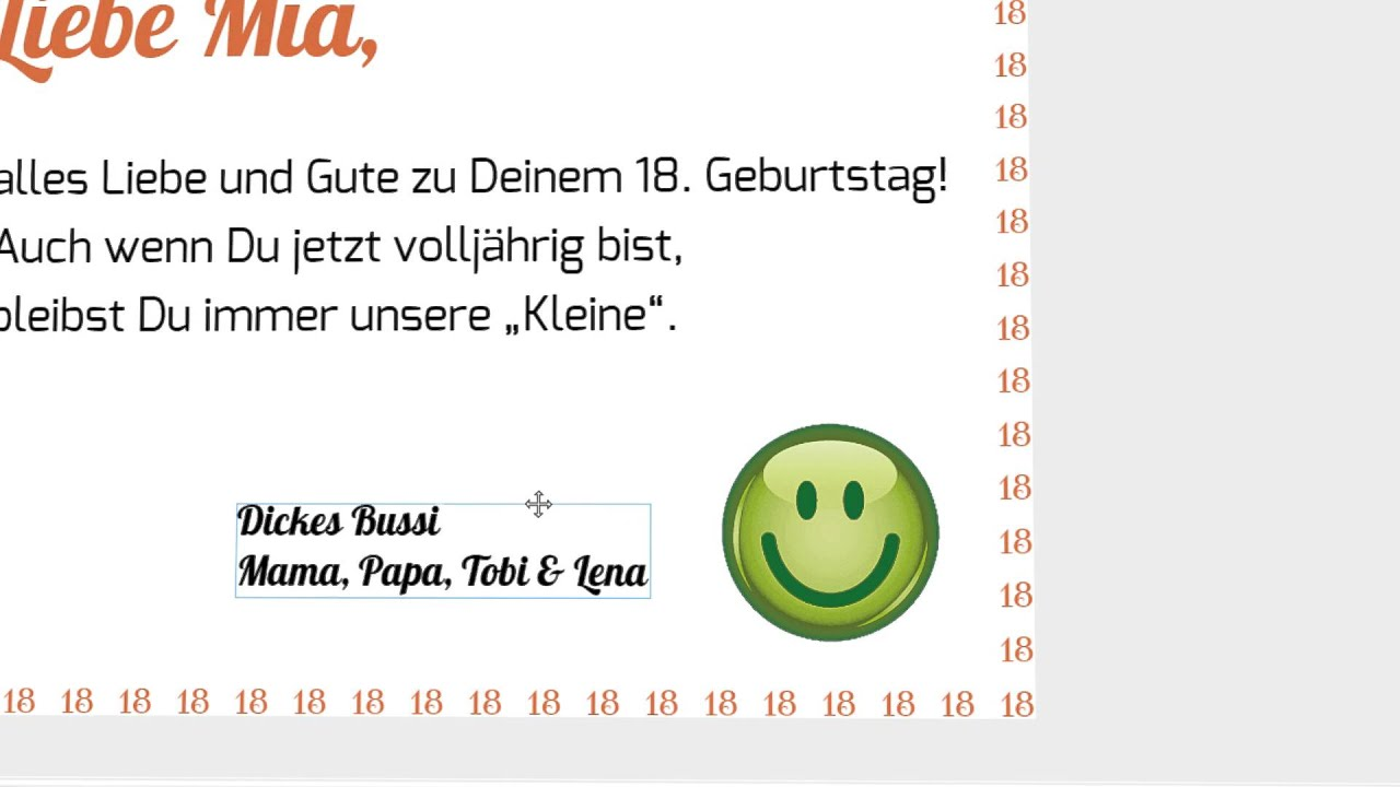 Rahmen einfügen und gestalten - Anzeigenannahme der Westdeutschen ...