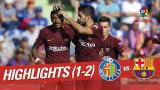 Resumen de getafe cf vs fc barcelona (1-2)